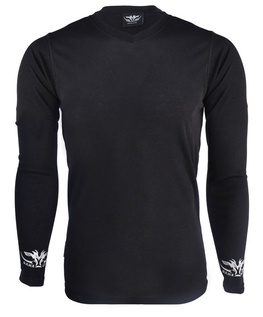 V Neck Thermal L/S Black