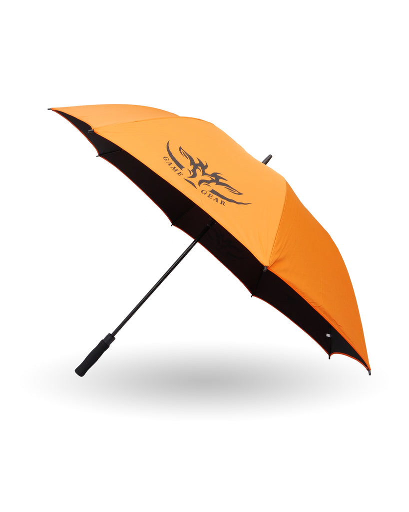 Large Black and Orange 60 inch umbrella
