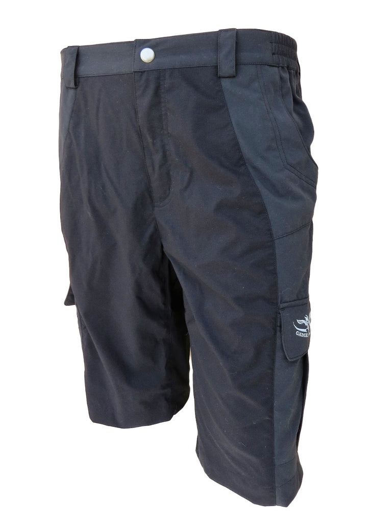 Black Original Urban Shorts NZ with pocket for hunting, fishing and outdoors