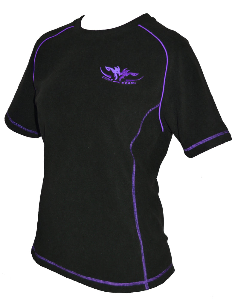 Ladies Fleece Tee Purple
