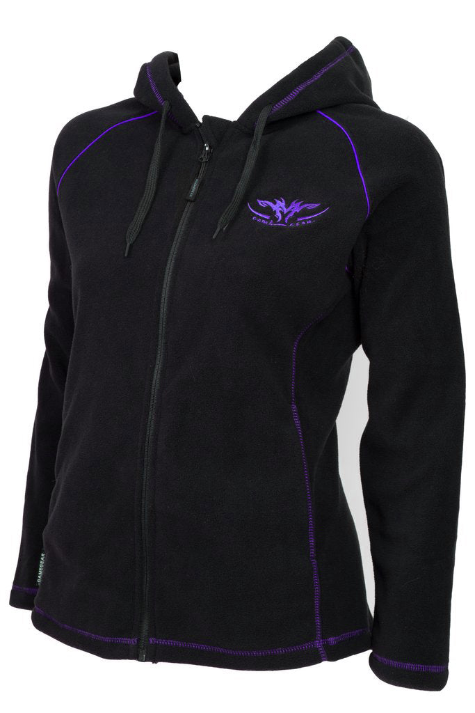 Ladies Fleece Hoodie Purple