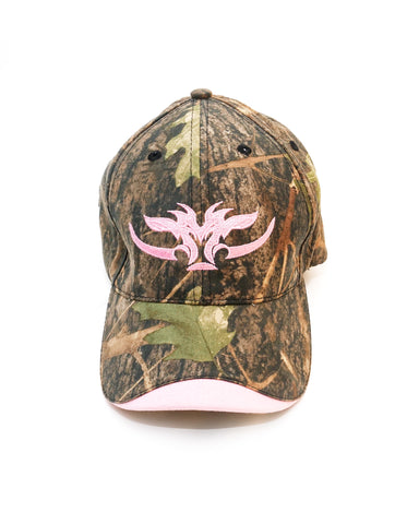 Ladies pink and camo hunting cap