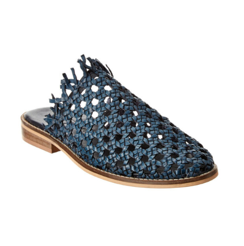 Free People Mirage Woven Flat Navy