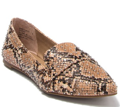 Steve Madden Feather Tan Snake