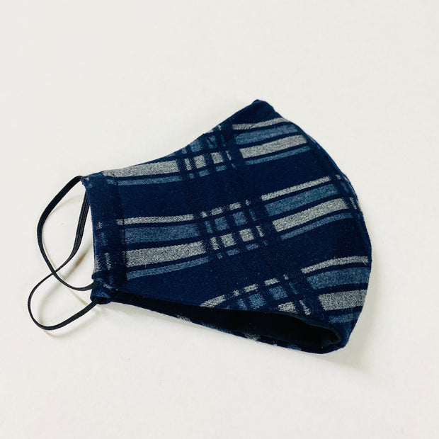 Face Mask - Navy Plaid