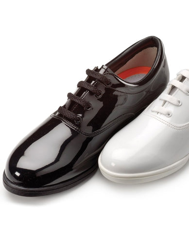 FORMAL MARCHING SHOE (WHITE PATENT)