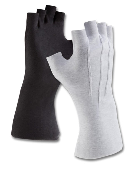 LONG WRISTED COTTON FINGERLESS GLOVES