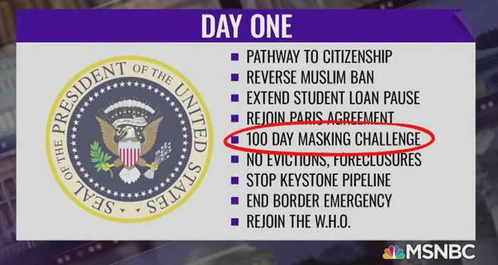 Image credit MSNBC on January 20, 2021