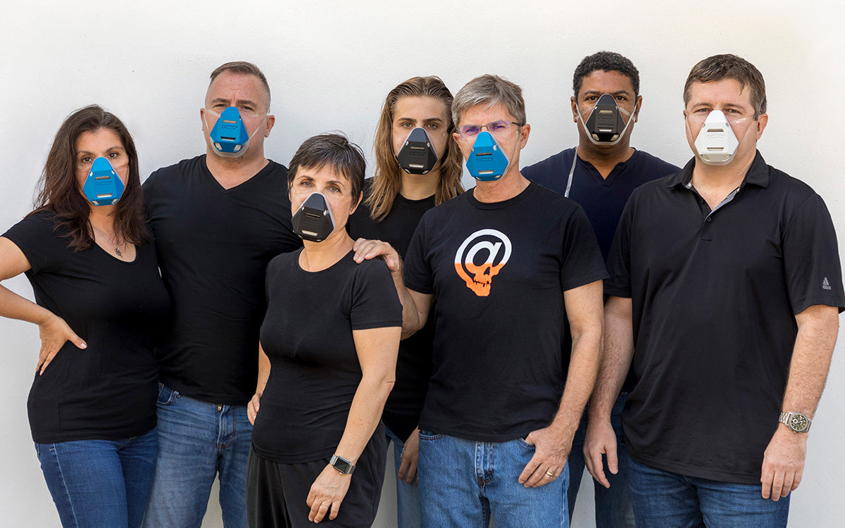 OCTO® Safety Devices Team wearing OCTO® Respirator Masks