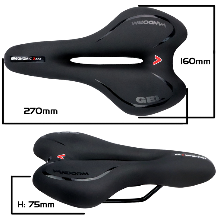 Vandorm Airflow Mountain Hybrid Bike Gel Saddle