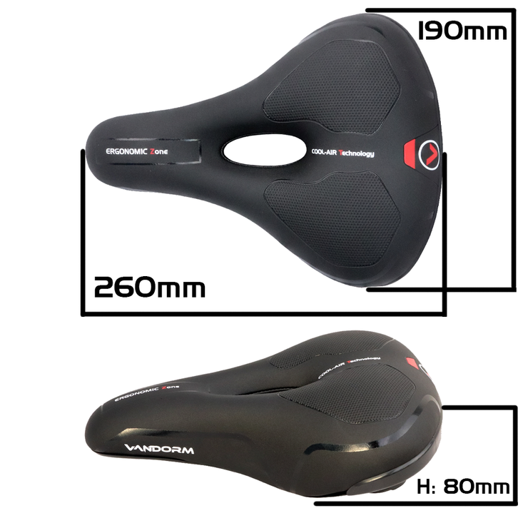 Vandorm Comfort Extra Memory Foam Mountain Hybrid Bike Saddle