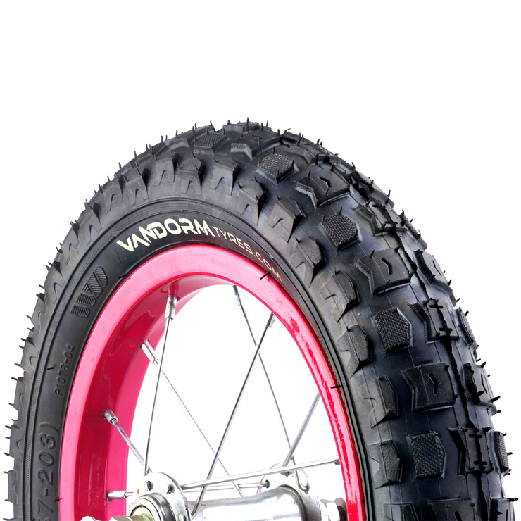 "Vandorm 12"" 1/2"" x 2"" 1/4"" Kids Knobbly Bike Pram Tyre"
