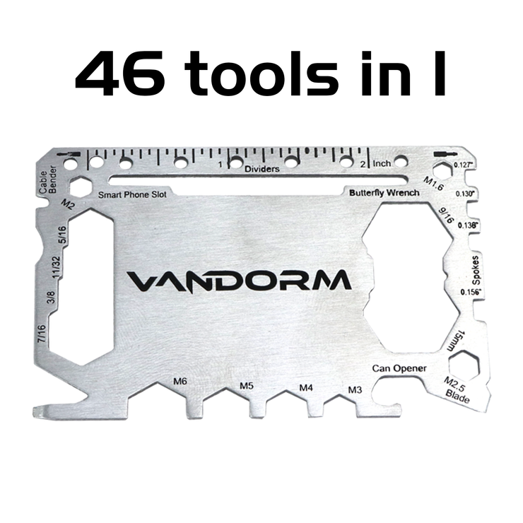Vandorm Utility Multi Tool SOS Card 46 in 1