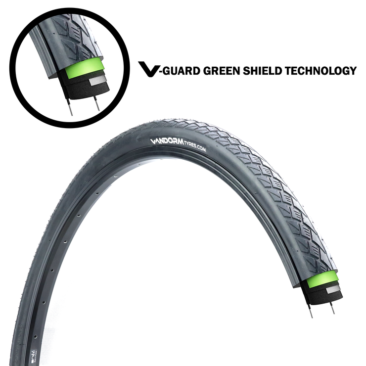 NEW OFFER - Vandorm City Smart Hybrid Tyre 700c x 35c PUNCTURE PROTECTION