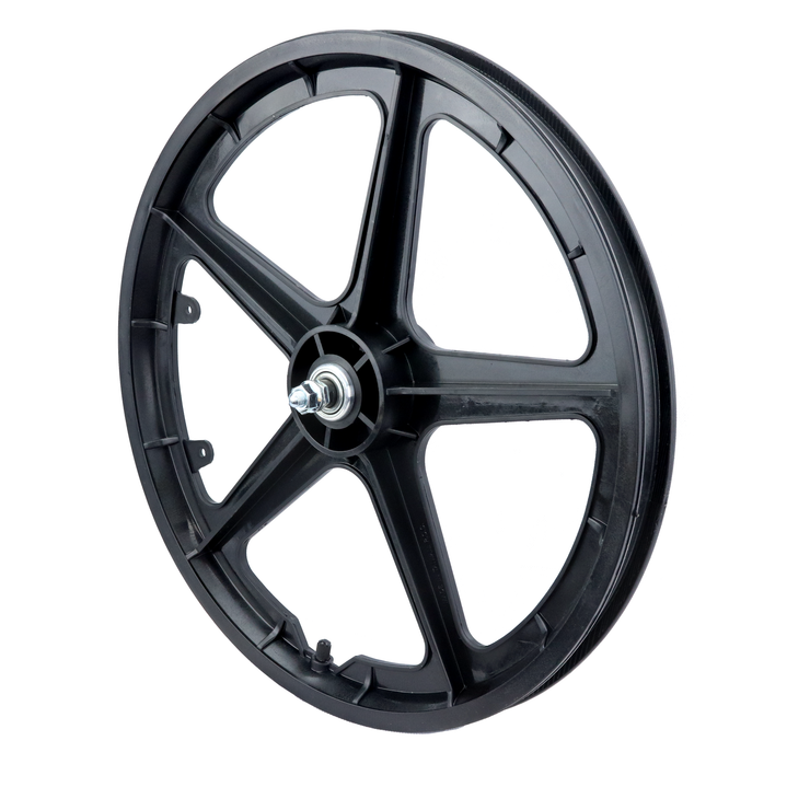 "Vandorm 20"" Front BMX Mag Wheel 5 Spoke Straight BLACK"