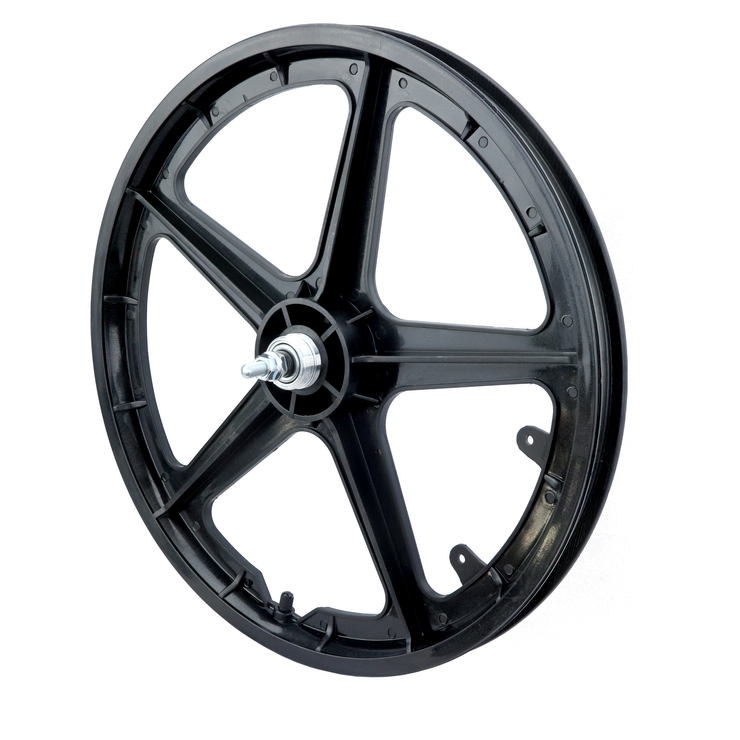 "Vandorm 20"" Rear BMX Mag Wheel 5 Spoke Straight BLACK"