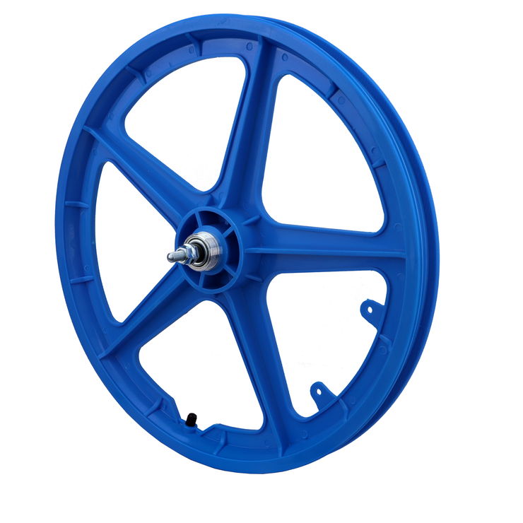 "Vandorm 20"" Rear BMX Mag Wheel 5 Spoke Straight BLUE"