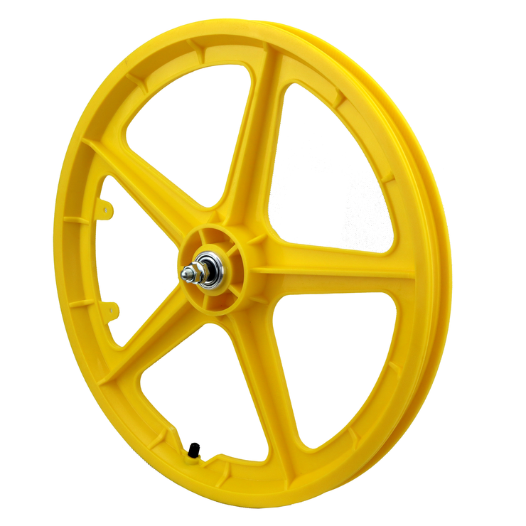 "Vandorm 20"" Front BMX Mag Wheel 5 Spoke Straight YELLOW"