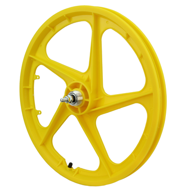 "Vandorm 20"" Rear BMX Mag Wheel 5 Spoke Aero YELLOW"