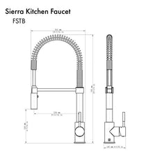 Load image into Gallery viewer, ZLINE Sierra Kitchen Faucet in Brushed Nickel (SRA-KF-BN)