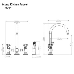 ZLINE Mona Kitchen Faucet in Oil Rubbed Bronze (MNA-KF-ORB)