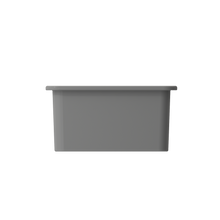"Load image into Gallery viewer, BOCCHI Sotto Undermount Fireclay 18"" Single Bowl Kitchen Sink with Protective Bottom Grid and Strainer 1359-006-0120 Matte Gray"