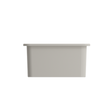 "Load image into Gallery viewer, BOCCHI Sotto Undermount Fireclay 18"" Single Bowl Kitchen Sink with Protective Bottom Grid and Strainer 1359-014-0120 Biscuit"