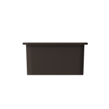 "Load image into Gallery viewer, BOCCHI Sotto Undermount Fireclay 18"" Single Bowl Kitchen Sink with Protective Bottom Grid and Strainer 1359-025-0120 Matte Brown"
