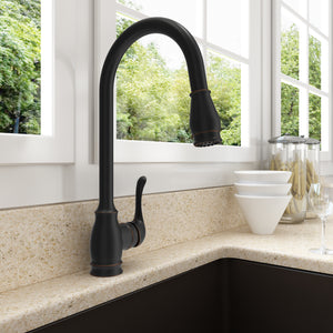 Bocchi Belsena Pull-Out Spray Kitchen Faucet 2002 0001 ORB Oil Rubbed Bronze