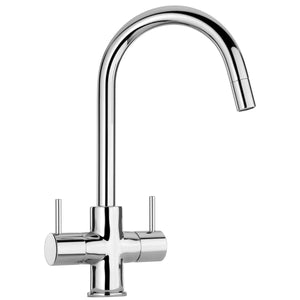 LaToscana Elba two handle pull-down kitchen faucet in Chrome - 78CR491