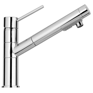 LaToscana Elba Single Handle Pull-Out Spray Kitchen Faucet In Chrome & Brushed Nickel - 78CR568 78PW568