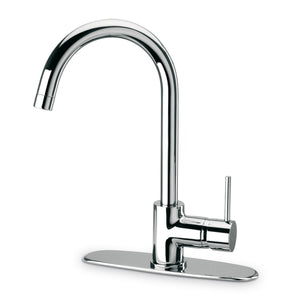 LaToscana Elba single handle pull-down kitchen faucet, stream only in Chrome - 78CR591