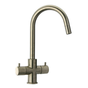 LaToscana Elba Two Handle Pull-Down Kitchen Faucet In Chrome & Brushed Nickel - 78CR491 78PW491