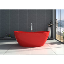 "Load image into Gallery viewer, Legion Furniture 64.2"" Matte White or Red Solid Surface Tub, No Faucet WJ8611-W / WJ8611-R"