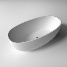 "Load image into Gallery viewer, Legion Furniture 65"" Matte White Solid Surface Tub, No Faucet WJ8628-W"