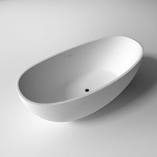 "Load image into Gallery viewer, Legion Furniture 63"" Matte White Solid Surface Tub, No Faucet WJ8643-W"