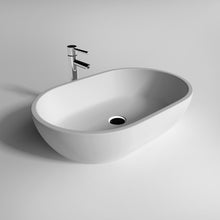 "Load image into Gallery viewer, Legion Furinture 22.8"" Matte White Vessel Solid Surface Bathroom Sink Bowl WJ9034"