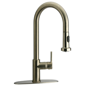 LaToscana Elix Single Handle Pull-Down Spray Kitchen Faucet In Chrome & Brushed Nickel - 92CR591LL 92PW591LL