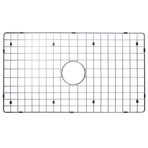 "Water Creation 33"" X 21"" Zero Radius Single Bowl Stainless Steel Hand Made Apron Front Kitchen Sink With Drain, Strainer, Bottom Grid, And Single Hole Faucet CF511-AS-3321A"