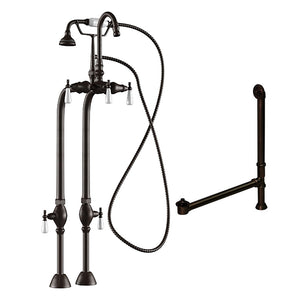 Cambridge Plumbing Complete Free Standing Plumbing Package Includes Free Standing Supply Lines, Faucet and Drain Assembly. Brushed Nickel, Polished Chrome or Oil Rubbed Bronze Finish CAM398684-PKG