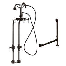 Load image into Gallery viewer, Cambridge Plumbing Complete Free Standing Plumbing Package Includes Free Standing Supply Lines, Faucet and Drain Assembly. Brushed Nickel, Polished Chrome or Oil Rubbed Bronze Finish CAM398684-PKG