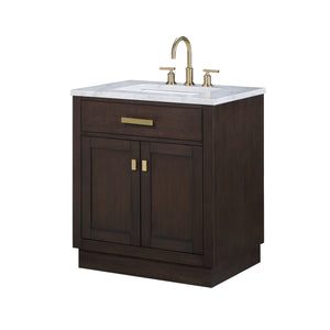 "Water Creation Chestnut 30"" Single Bathroom Vanity CH30D-0614BK"