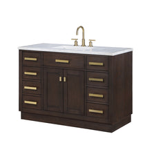 "Load image into Gallery viewer, Water Creation Chestnut 48"" Single Bathroom Vanity CH48B-0600BK"