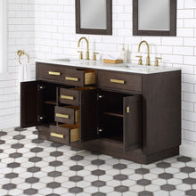 "Load image into Gallery viewer, Water Creation Chestnut 60"" Double Bathroom Vanity CH60C-0614BK"