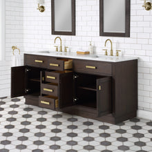 "Load image into Gallery viewer, Water Creation Chestnut 72"" Double Bathroom Vanity CH72B-0600BK"