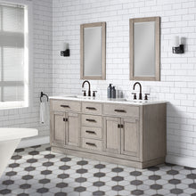 "Load image into Gallery viewer, Water Creation Chestnut 72"" Double Bathroom Vanity CH72D-0314GK"