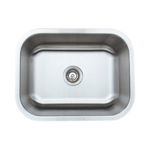 "Wells Sinkware 23"" 18-gauge Undermount Single Bowl Stainless Steel Kitchen Sink CMU2318-9"