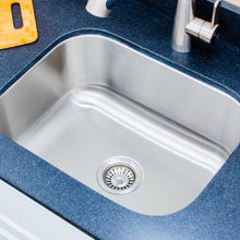 "Load image into Gallery viewer, Wells Sinkware 23"" 18-gauge Undermount Single Bowl Stainless Steel Kitchen Sink"
