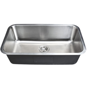 "Wells Sinkware 30"" 18-gauge Undermount Single Bowl Stainless Steel Kitchen Sink CMU3018-9"