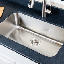 "Load image into Gallery viewer, Wells Sinkware 30"" 18-gauge Undermount Single Bowl Stainless Steel Kitchen Sink CMU3018-9"